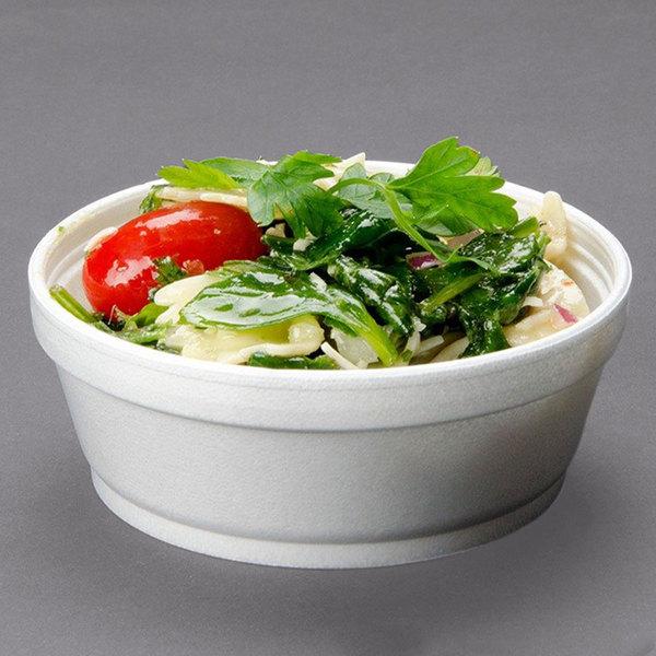 Dart 8SJ32 8 oz. Customizable Super Squat White Foam Food Bowl - 500/Case