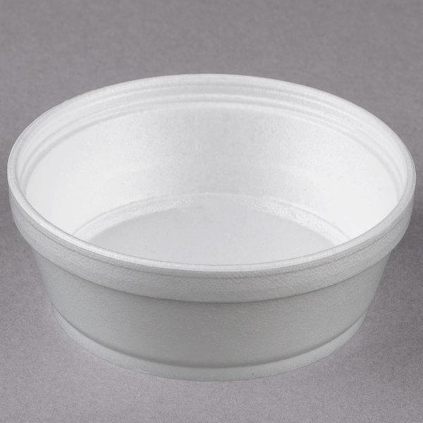 c6a7f8f5aa1 Dart 8SJ32 8 oz. Customizable Super Squat White Foam Food ...