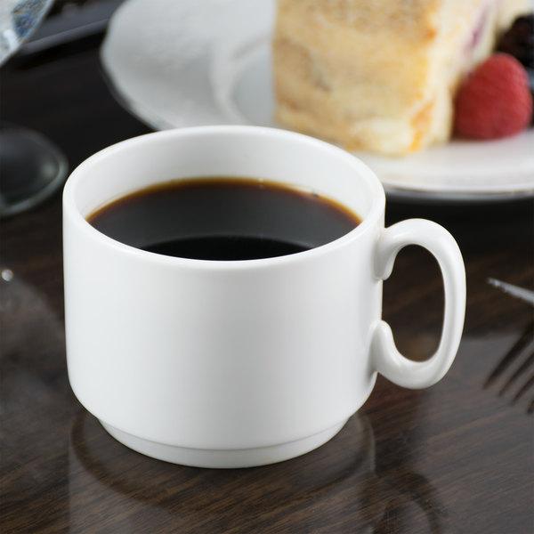 10 Strawberry Street B4521 Izabel Lam Pond 8 oz. White Bone China Coffee Cup - 48/Case