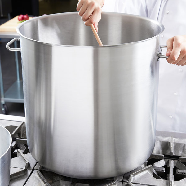 Vollrath 47726 Intrigue 76 Qt. Stainless Steel Stock Pot