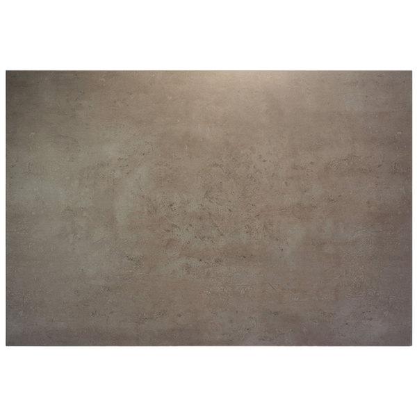 "BFM Seating CNT3048 Midtown 30"" x 48"" Textured Concrete Laminate Indoor Tabletop"