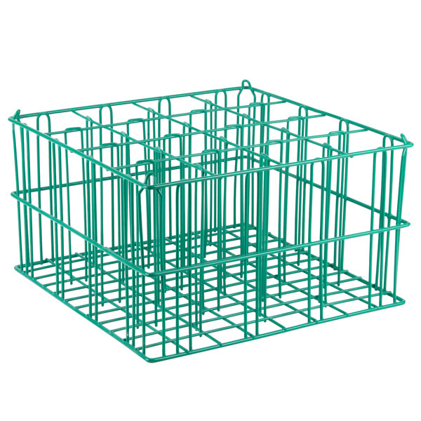 """16 Compartment Catering Glassware Basket - 4"""" x 4"""" x 10"""" Compartments Main Image 1"""