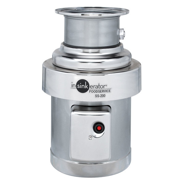 InSinkErator SS-200-31 Short Body Commercial Garbage Disposer - 2 hp, 115/208-230V, 1 Phase Main Image 1
