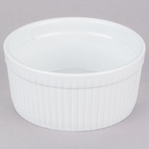 CAC SFB-32 32 oz. White China Fluted Souffle Bowl - 12/Case