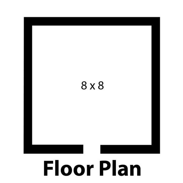 "Right Hinged Door Nor-Lake KLF7788-W Kold Locker 8' x 8' x 7' 7"" Indoor Walk-In Freezer with Wall Mounted Refrigeration"