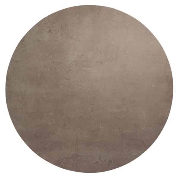 "BFM Seating CNT24R Midtown 24"" Round Textured Concrete Laminate Indoor Tabletop"