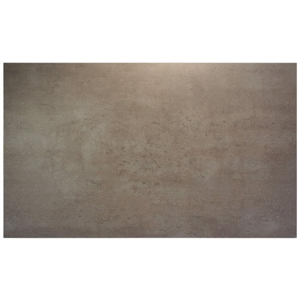 "BFM Seating CNT3060 Midtown 30"" x 60"" Textured Concrete Laminate Indoor Tabletop"