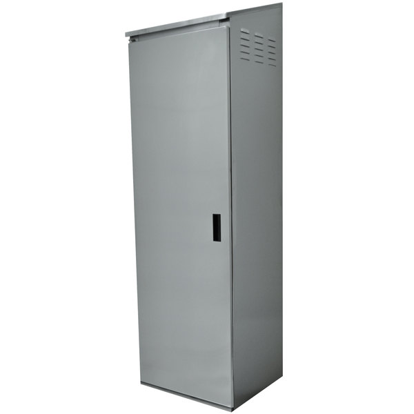 """Advance Tabco CAB-4 Single Door Type 430 Stainless Steel Standing Cabinet - 25"""" x 22 5/8"""" x 84"""" Main Image 1"""