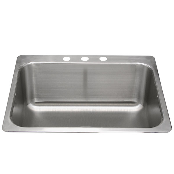1 Bowl Kitchen Sink Advance tabco ls 2418 14re 1 bowl stainless steel drop in laundry advance tabco ls 2418 14re 1 bowl stainless steel drop in laundry room sink 24 x workwithnaturefo