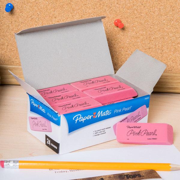 Paper Mate 70520 Medium Pink Pearl Eraser - 24/Box