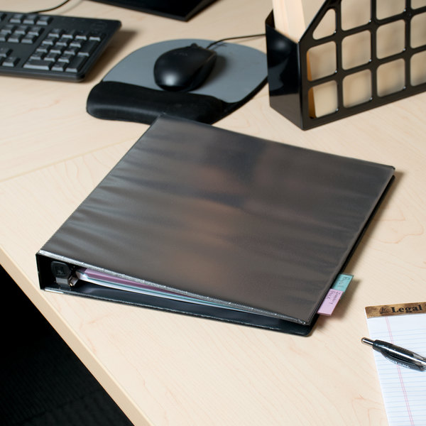 """Avery 79699 Black Heavy-Duty View Binder with 1"""" Locking One Touch EZD Rings"""