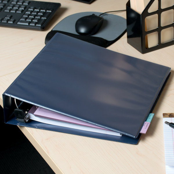 """Avery 79802 Navy Blue Heavy-Duty View Binder with 2"""" Locking One Touch EZD Rings"""
