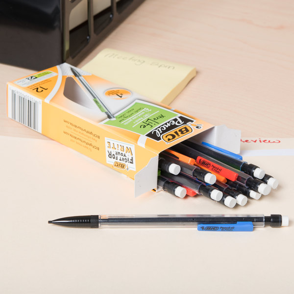 Bic MP11 Clear Barrel 0.7mm Xtra-Life HB Lead #2 Mechanical Pencil - 12/Pack Main Image 10