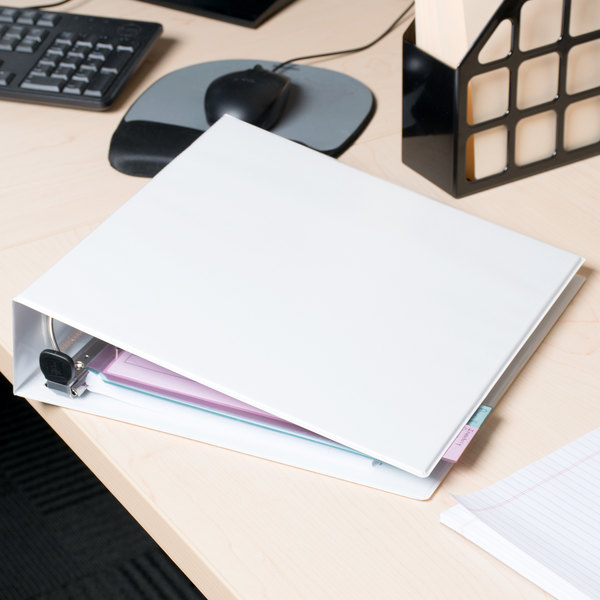 "Avery 79192 White Heavy-Duty View Binder with 2"" Locking One Touch EZD Rings"