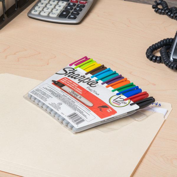 Sharpie 30072 Fine Point Permanent Marker, Color Assortment - 12/Pack