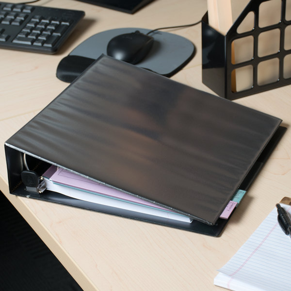 "Avery 79692 Black Heavy-Duty View Binder with 2"" Locking One Touch EZD Rings Main Image 5"