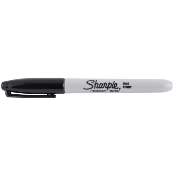 Marks On Paper and Plastic Black Color Resist Fading and Water AP Certified Sharpie 30001 Fine Point Permanent Marker 12 Markers Per Box