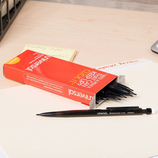 Universal UNV22010 Smoke Barrel 0.7mm HB Lead #2 Mechanical Pencil - 12/Pack