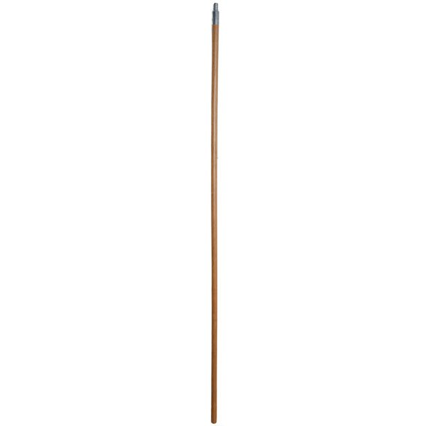 """Scrubble by ACS B1260 60"""" Metal Threaded Wooden Broom Handle Main Image 1"""