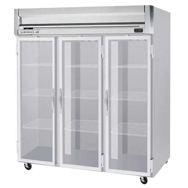 "Beverage-Air HFP3-5G Horizon Series 78"" Glass Door Reach-In Freezer with LED Lighting Main Image 1"