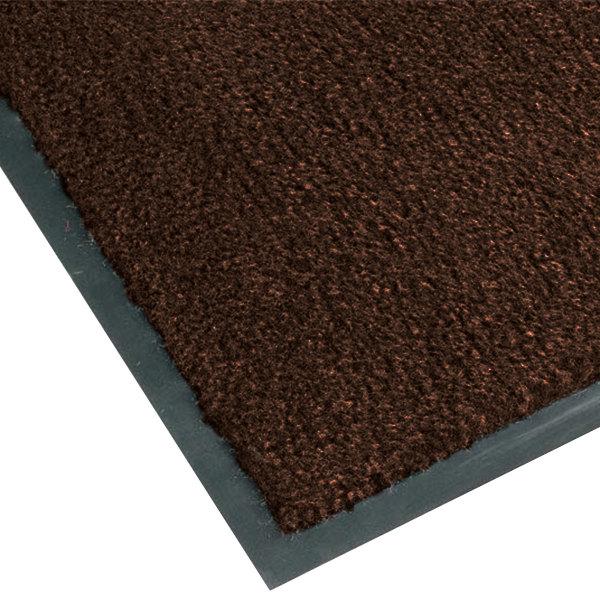 "Notrax T37 Atlantic Olefin 434-320 4' x 6' Dark Toast Carpet Entrance Floor Mat - 3/8"" Thick Main Image 1"