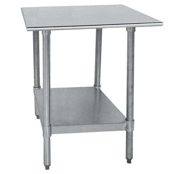 "Advance Tabco TT-240-X 24"" x 30"" 18 Gauge Stainless Steel Work Table with Galvanized Undershelf"