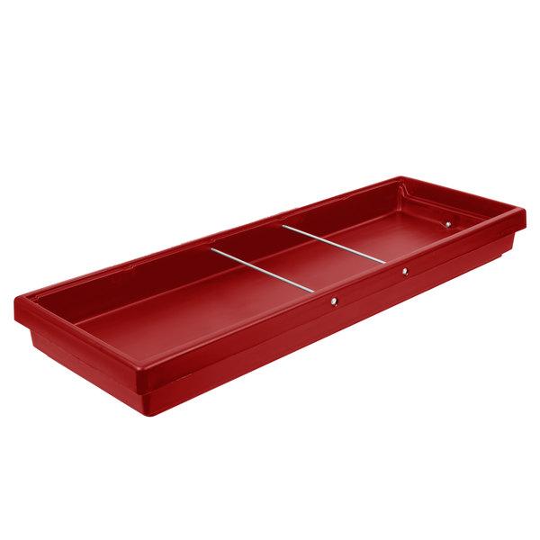 "Cambro BUF72 68"" x 24"" x 7"" Red Buffet Bar Base Main Image 1"