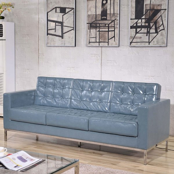 Flash Furniture ZBLACEYSOFAGYGG Hercules Lacey Gray - Contemporary leather furniture