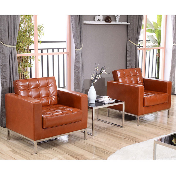 Fine Flash Furniture Zb Lacey 831 2 Chair Cog Gg Hercules Lacey Cognac Contemporary Leather Chair With Stainless Steel Frame Creativecarmelina Interior Chair Design Creativecarmelinacom