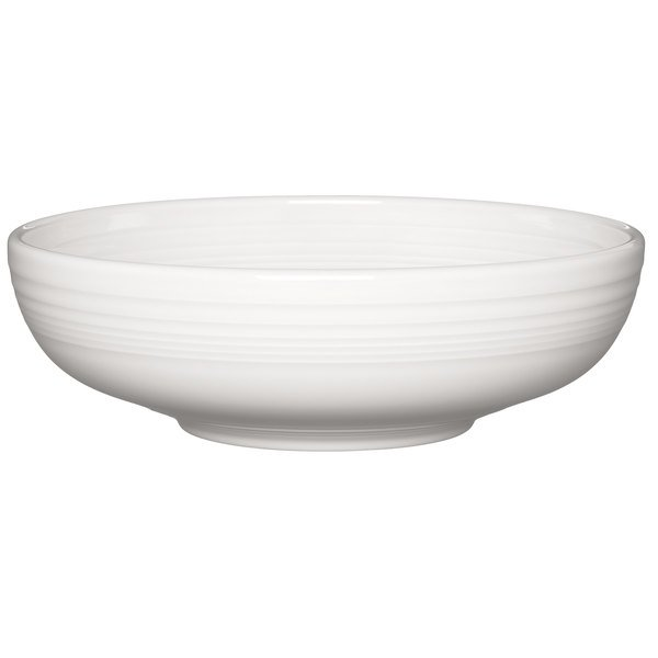 Homer Laughlin 1472100 Fiesta White 96 oz. Extra Large Bistro Bowl - 4/Case