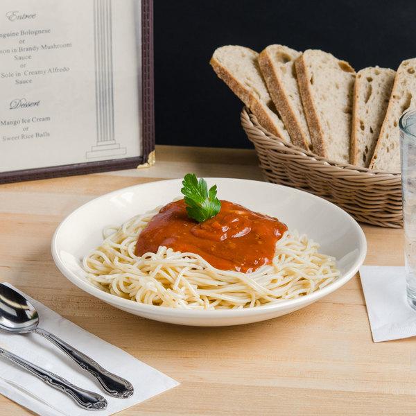Tuxton BED-1053 1.25 Qt. Eggshell China Pasta / Salad Bowl - 12/Case Main Image 3