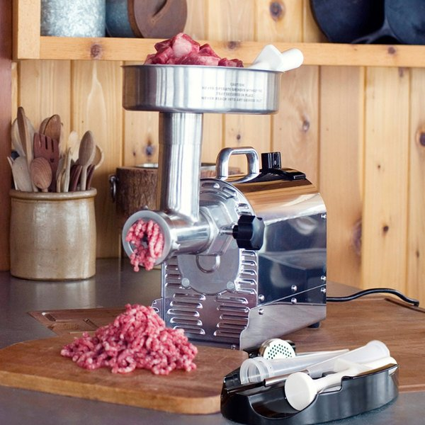 Weston 10-0801-W #8 Pro Series Electric Meat Grinder - 120V - 3/4 hp