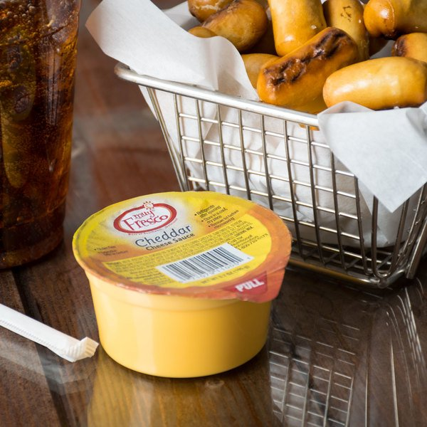 Muy Fresco 3.8 oz. Microwavable Cheese Sauce Cup - 30/Case