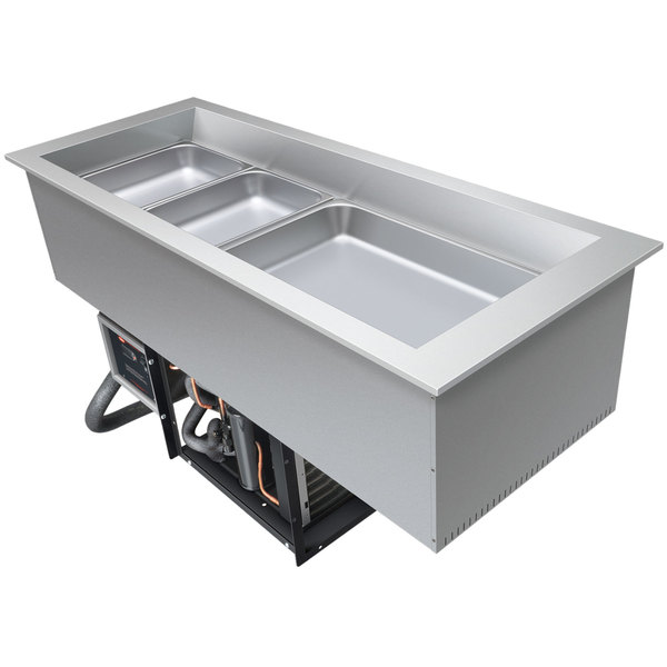 Hatco CWB-S2 Two Pan Refrigerated Slim Drop-In Cold Food Well - 120V
