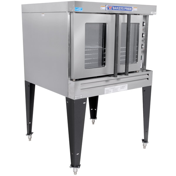 Bakers Pride BPCV-G1 Restaurant Series Natural Gas Bakery Depth Single Deck Full Size Convection Oven - 90,000 BTU