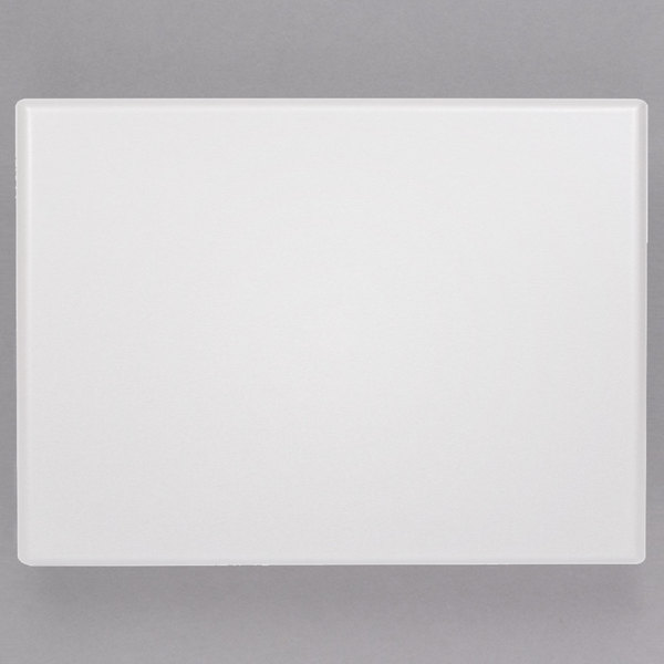 "Grosfillex 99531004 X1 24"" x 32"" Rectangular White Outdoor Molded Melamine Table Top"