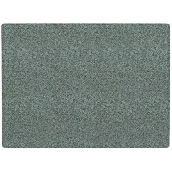 "Grosfillex 99531025 X1 24"" x 32"" Rectangular Granite Green Outdoor Molded Melamine Table Top"