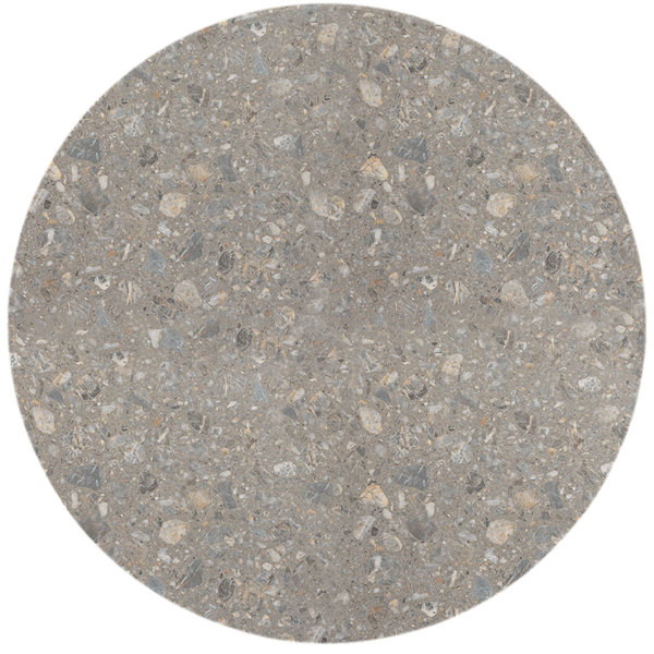 """Grosfillex 99832002 30"""" Round Tokyo Stone Outdoor Molded Melamine Table Top Main Image 1"""