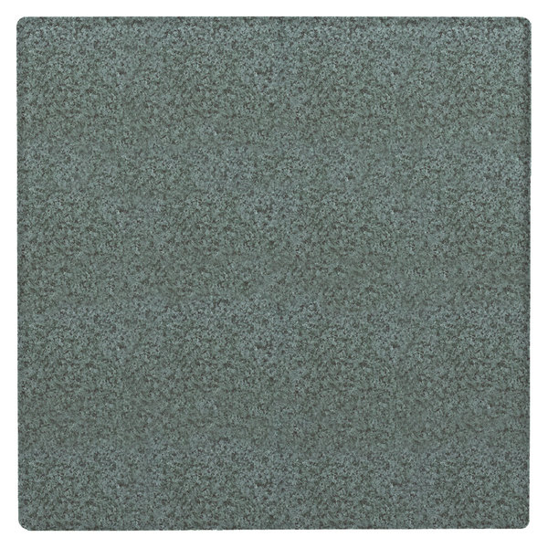 """Grosfillex 99873125 36"""" Square Granite Green Outdoor Molded Melamine X1 Table Top"""