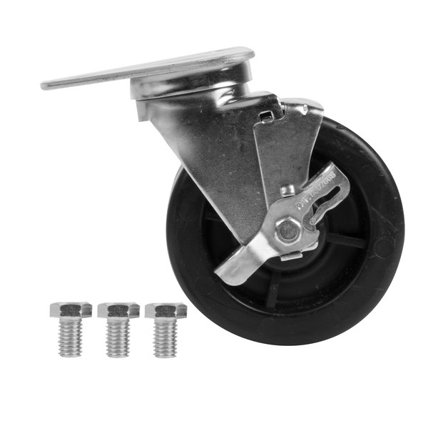 """5"""" Swivel Plate Caster with Brake Main Image 1"""