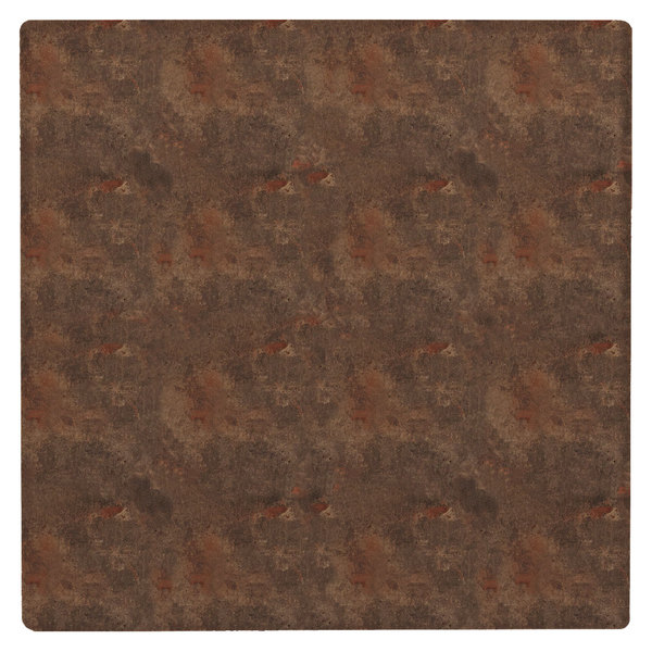 """Grosfillex 99873151 36"""" Square Lava Outdoor Molded Melamine X1 Table Top"""