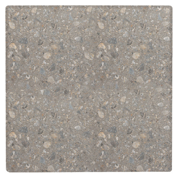 """Grosfillex 99873102 36"""" Square Tokyo Stone Outdoor Molded Melamine X1 Table Top"""