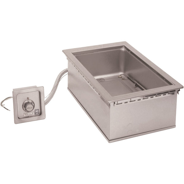 """Wells HW-SMP6D 12"""" x 20"""" Drop-In Cook and Hold Hot Food Well with Drain"""