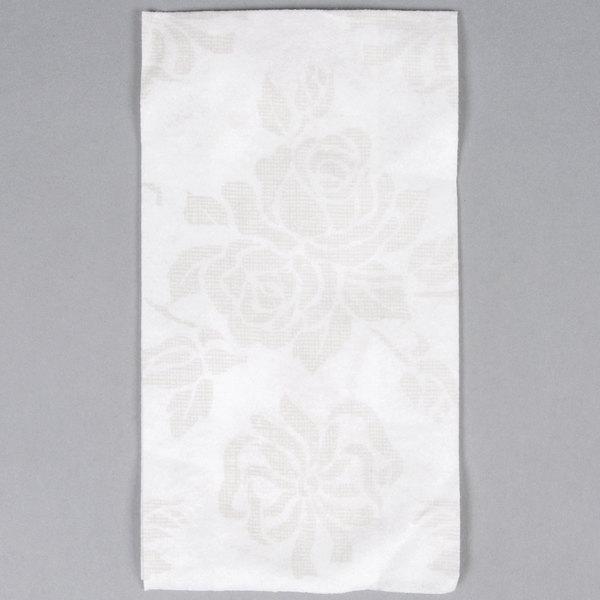 Hoffmaster 856513 Linen-Like 12 inch x 17 inch Silver Prestige 1/6 Fold Guest Towel - 500/Case