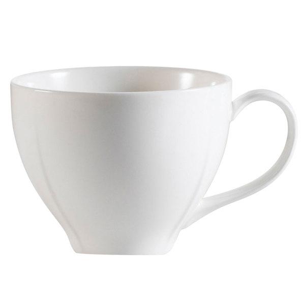 CAC MDN-1 Modern 7.5 oz. New Bone White Porcelain Cup - 36/Case