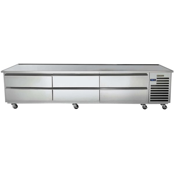 """Traulsen TE096HT-1 6 Drawer 96"""" Refrigerated Chef Base - Specification Line Main Image 1"""