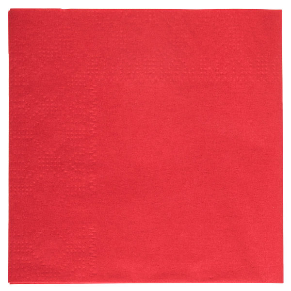 Hoffmaster 180311 Red Beverage / Cocktail Napkin - 1000/Case