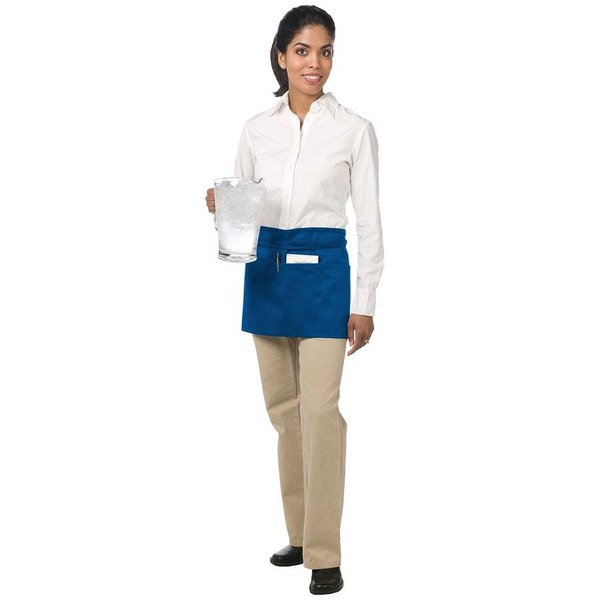 """Chef Revival 605WAFH-RB Customizable Royal Blue Front of the House Waist Apron - 12""""L x 24""""W"""