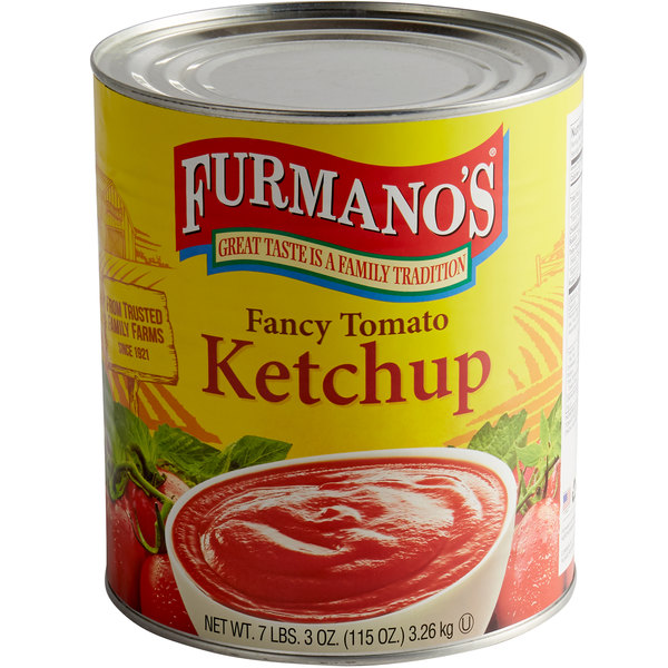 Furmano's #10 Can Fancy Grade Ketchup - 6/Case