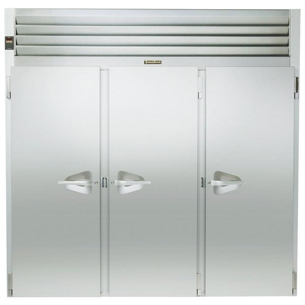 "Traulsen RRI332LUT-FHS 101"" Stainless Steel Solid Door Roll-In Refrigerator Main Image 1"